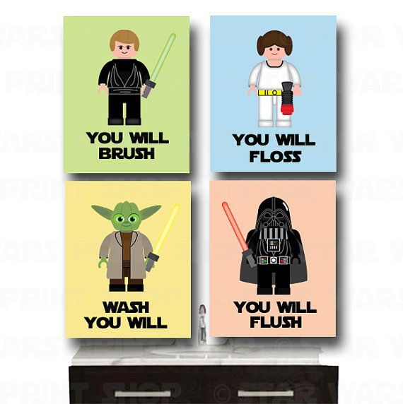 LEGO Star Wars Bathroom Wall Art Jedi Mind Trick Set By StarWarsPrintShop,  $32.00 Part 44