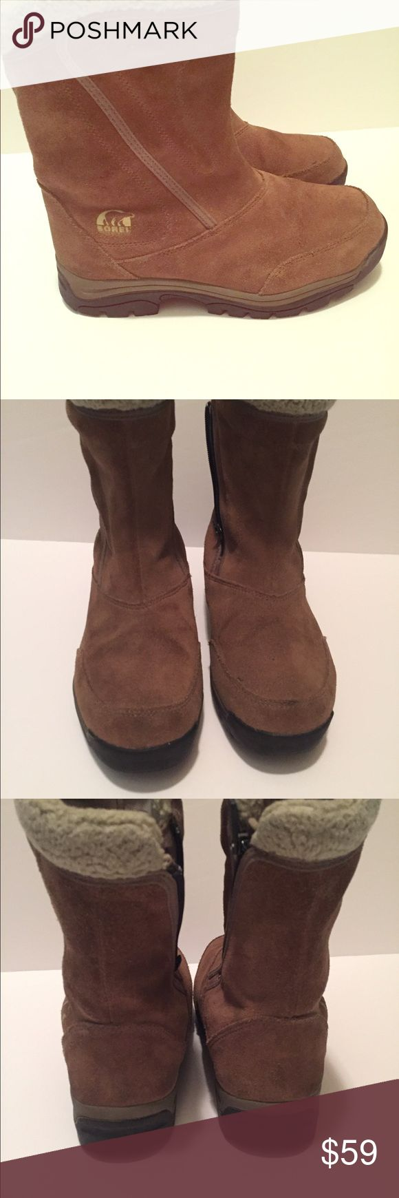 Sorel waterproof insulated boots 8.5 Women Sorel water fall insulated half calf zipper boot. Like new. Excellent condition. Size 8.5 Sorel Shoes Winter & Rain Boots