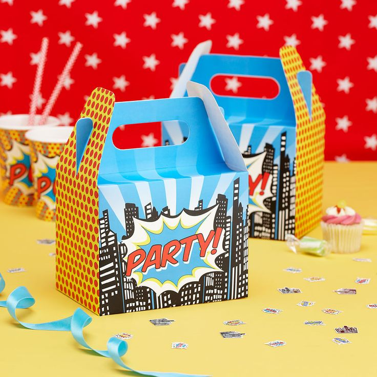 : PARTY BOXES   POP ART PARTY #hatchandblossom