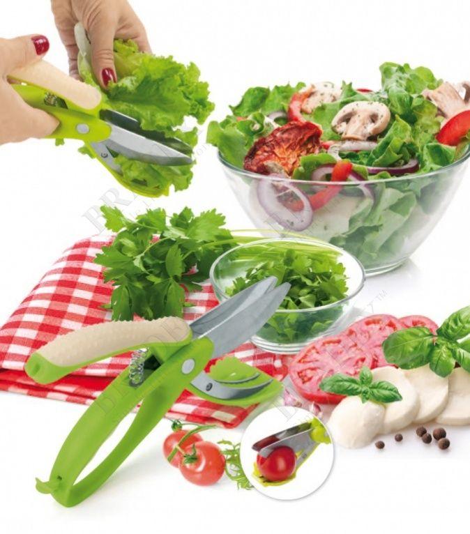 Ножницы для овощей, фруктов и салата «АЛЛИГАТОР» АРТИКУЛ: TK 0160 Больше не нужно долго примеряться, прежде чем разрезать помидор, Ваши руки больше не будут пахнуть луком, а на пальцах не будет порезов и сломанных ногтей, Вы забудете о необходимости мытья разделочных досок и ножей. Благодаря ножницам для овощей, фруктов и салата «Аллигатор» Вы за считанные минуты приготовите салат, нарежете овощи для супа и подготовите ингредиенты для гарнира. Продукты окажутся сразу в тарелке, кастрюле…