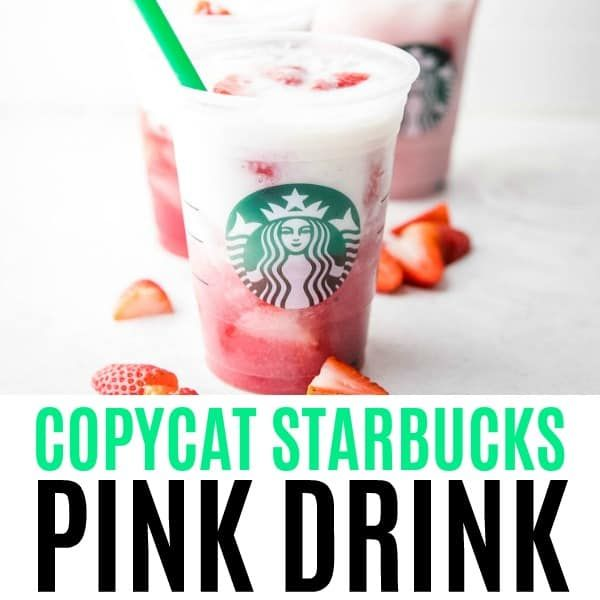 Briny our favorite coffee shop drink home! This Copycat Starbucks Pink Drink is …