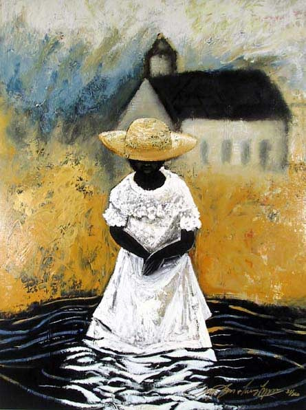 """""""Wade In The Water"""" by Jerry and Terry Lynn...reminds me of the amazing piece Judith Jamison danced when she was with Alvin Ailey's Dance Company as lead female dancer."""