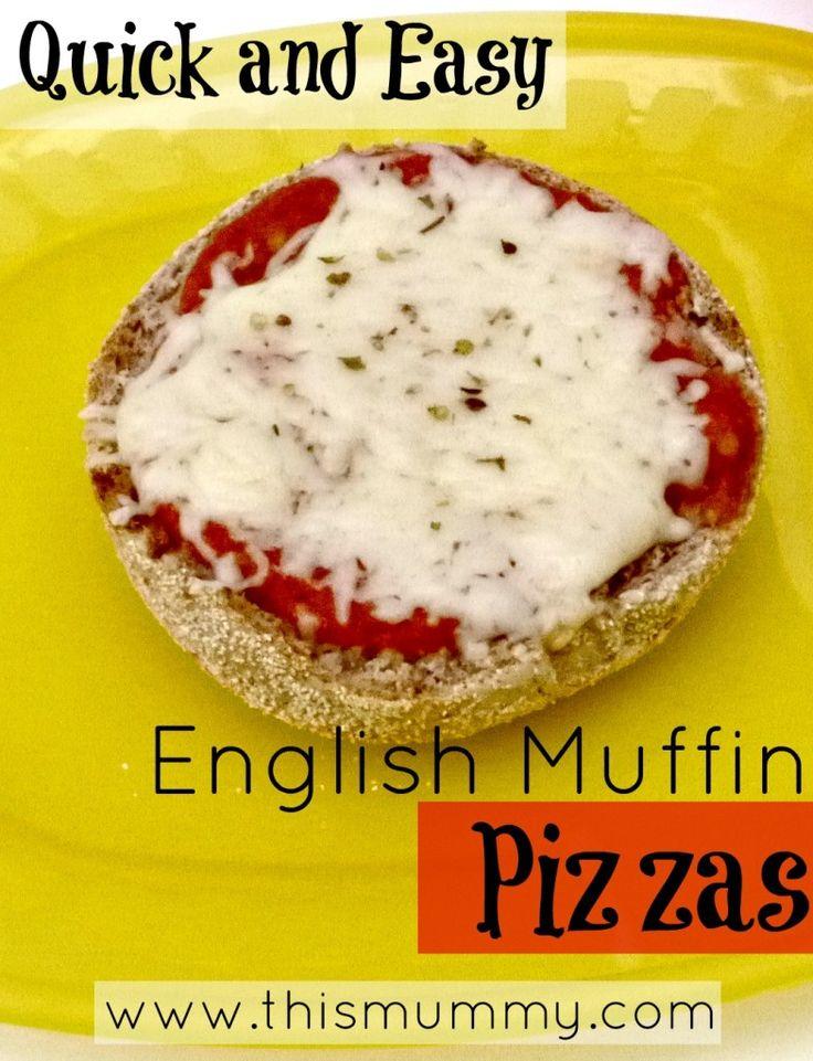 English Muffin Pizzas Recipe - This Mummy...