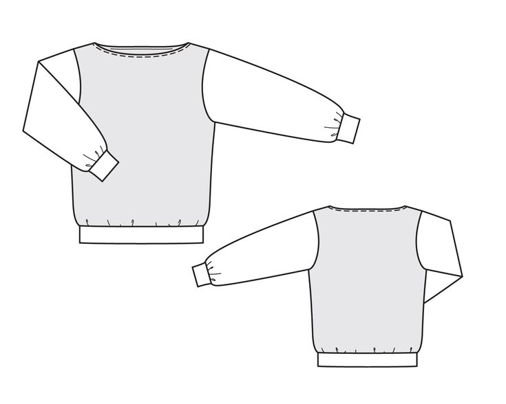 Пуловер с вырезом лодочкой - выкройка № 114 А из журнала 9/2014 Burda – выкройки пуловеров на Burdastyle.ru