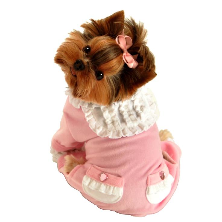 Chloe was wearing her pajamas last night, so cute
