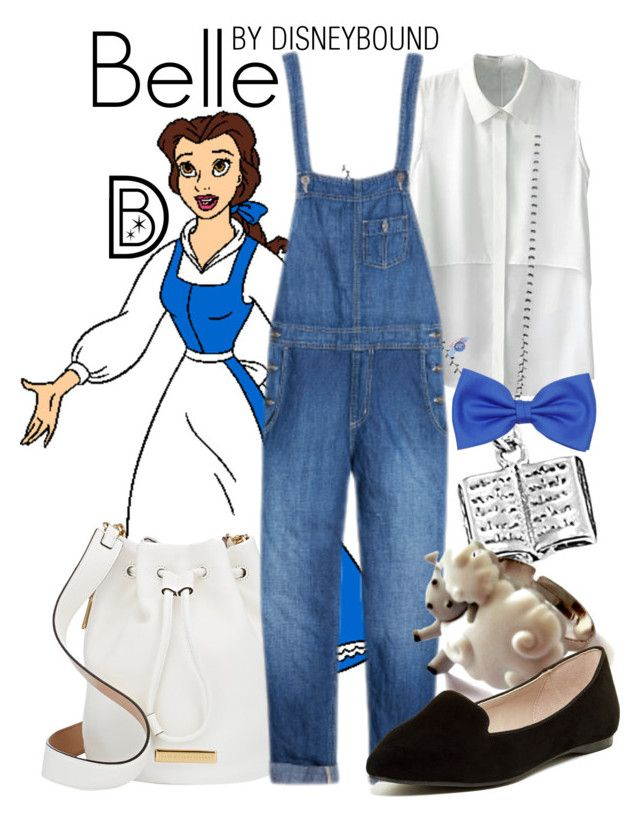 """""""Belle"""" by leslieakay ❤ liked on Polyvore featuring Disney, Marc by Marc Jacobs, ALDO, disney, disneybound and disneycharacter"""
