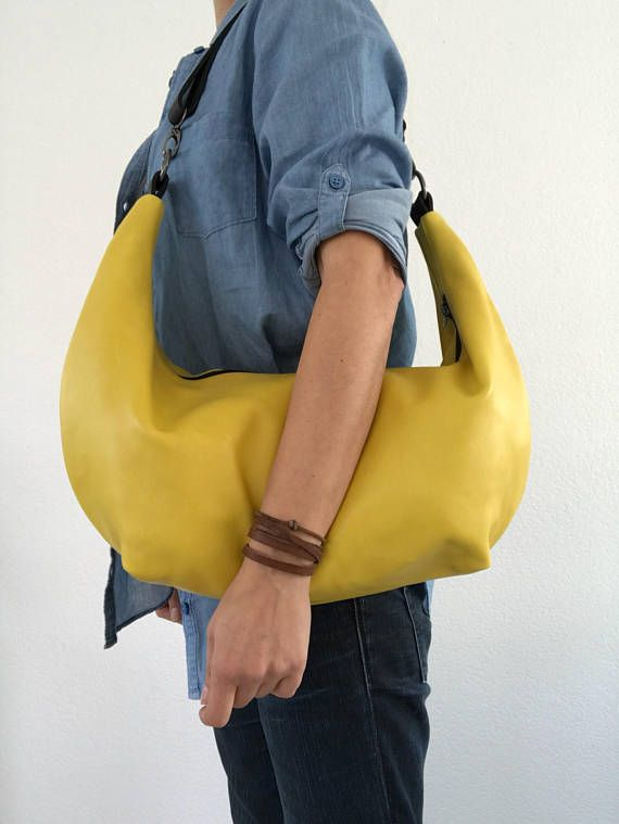 Hey, I found this really awesome Etsy listing at https://www.etsy.com/listing/540268599/soft-yellow-leather-crossbody-bag