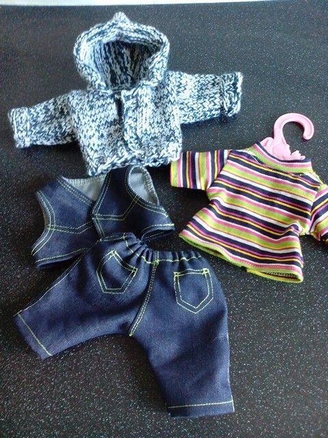 Jongenspoppenkleding voor 32cm poppen bijv voor little babyborn Meer zelfgemaakte poppenkleding te zien op mijn fb pagina: Helma's Poppenkleding