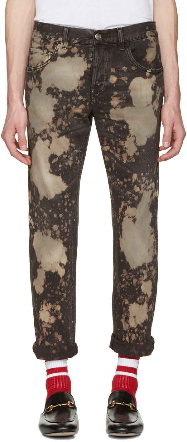 Gucci - Black Bleached Tapered Jeans
