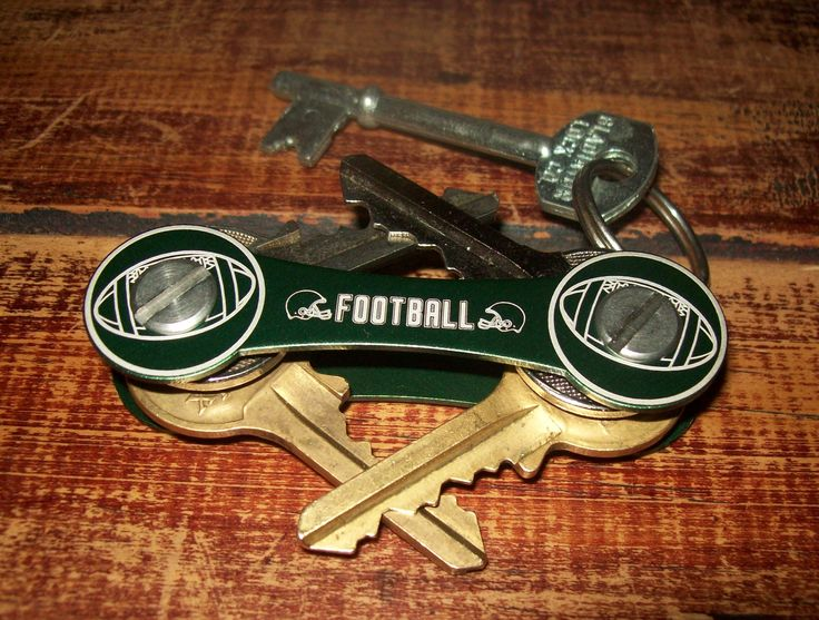 American football fans organize their keys like this. Lightweight, tough, and compact, not to mention smart.