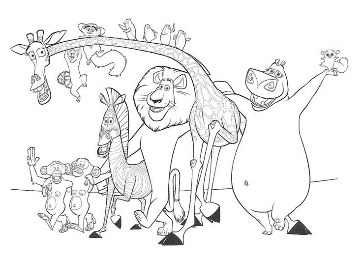 madagascar afro circus coloring pages - photo#43