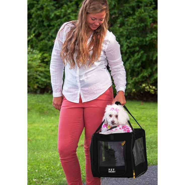 PET GEAR SIGNATURE Pet Car Seat & Carrier 20 - Black - Cats Dogs Holder Washable