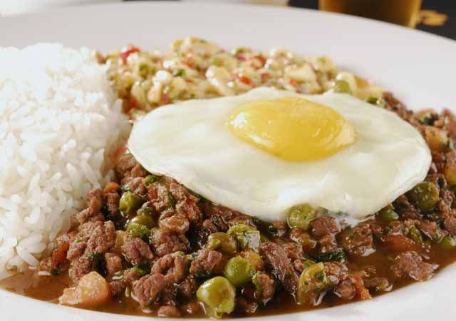 """Picadinho"". Traditional brazilian food"