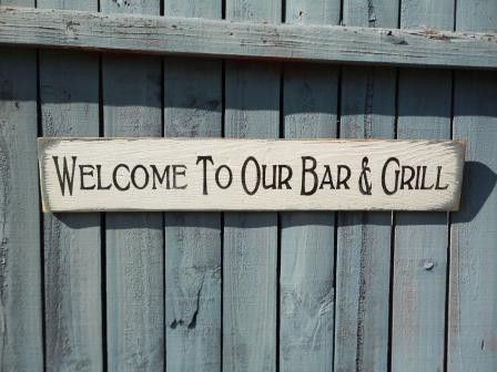 Bar And Grill Sign, Outdoor Patio,man Cave, Fathers Day On Etsy,