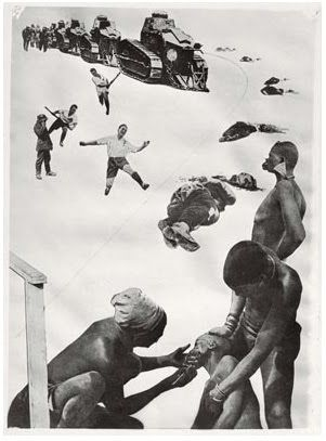 LASZLO MOHOLY NAGY - Fotogramas this is a representation of dadaism as it focuses on the topic of war, however does not use satire to get his point across like artists from the movement did