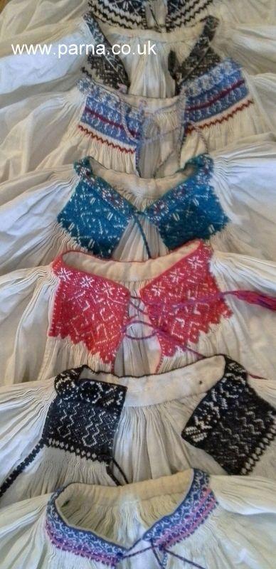 Beautiful detail on these antique blouses from the kalotaszeg region of Transylvania, Romania #antiquefolk