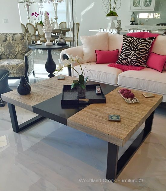 Soft Modern Coffee Table By Woodland Creek. Available In Custom Sizes U0026  Finishes.
