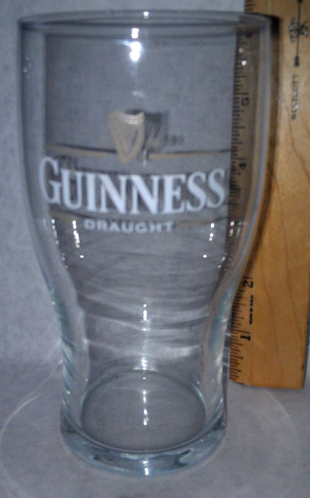 Vintage Guinness Draught White Guinness Glass Collectible New
