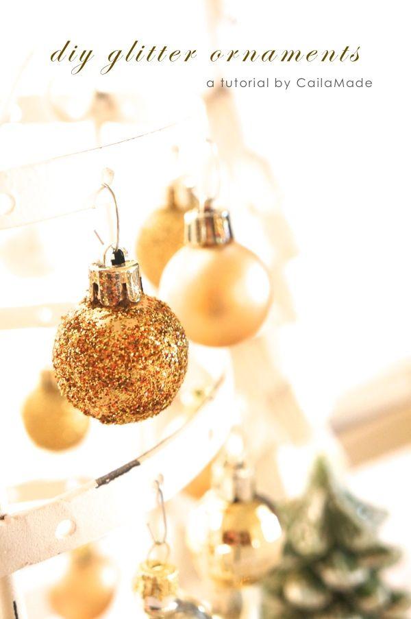 Easy glittery ornaments
