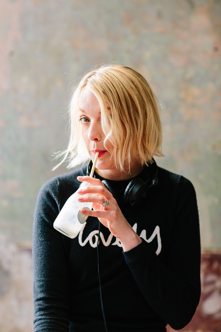 Lauren Laverne looking VERY lovely in our Boden cashmere jumper whilst DJing at our AW16 Press Day. Vanilla cornflake milkshake anyone?