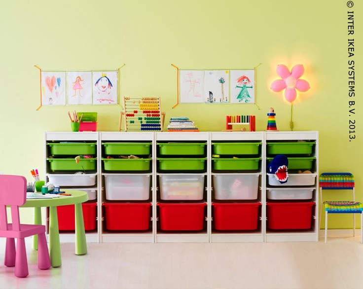 ikea trofast playroom pinterest storage boxes flower and wall mounted lamps. Black Bedroom Furniture Sets. Home Design Ideas