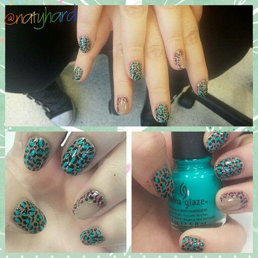 Leopardo #nails #manicure #manos #esmalte #leopardo #uñas