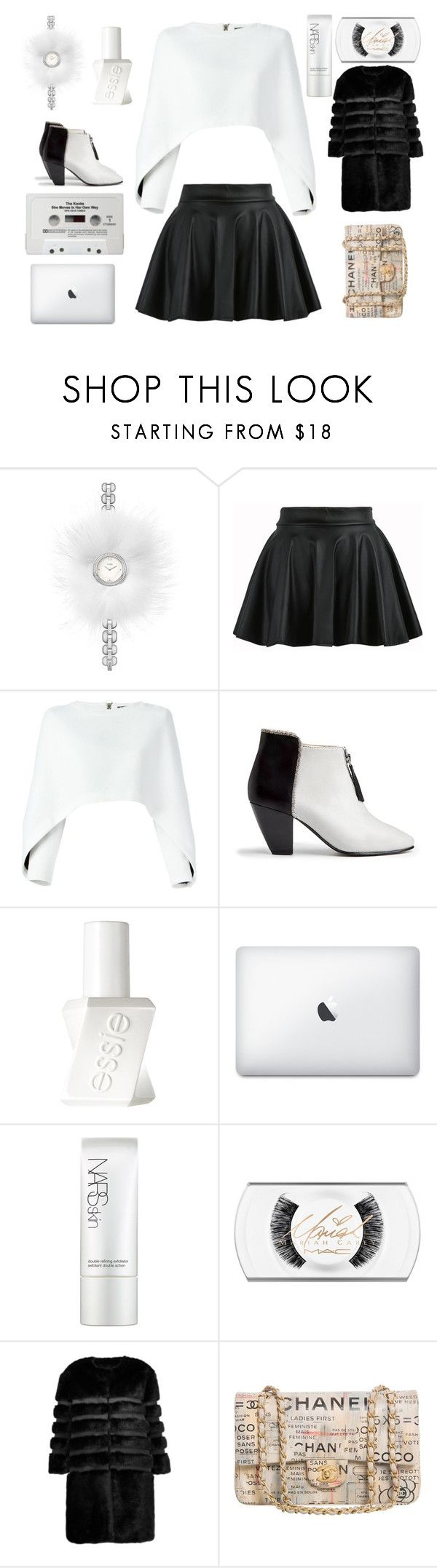 """Kim Kardashian Style"" by kimkardashianwestkkw ❤ liked on Polyvore featuring Fendi, Balmain, Nine to Five, Essie, CASSETTE, NARS Cosmetics, AINEA and Chanel"