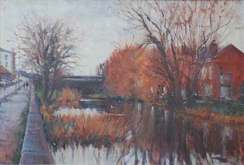 Norman Teeling 'Harold's Cross Bridge' #art #painting #bridge #trees #NormanTeeling #DukeStreetGallery