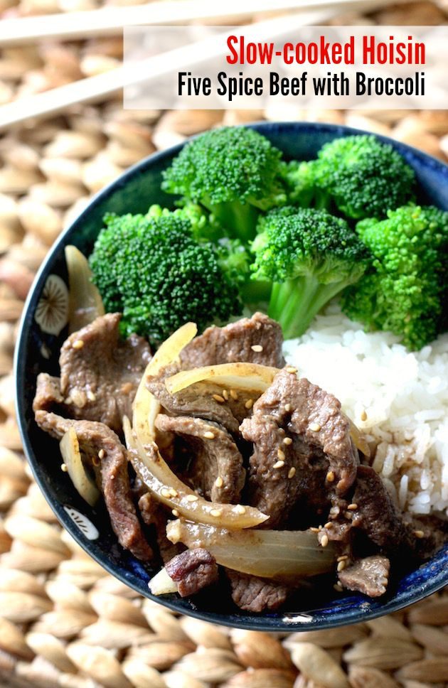 Slow Cooker Hoisin Five-Spice Beef with Broccoli recipe by SeasonWithSpice.com @seasonwithspice