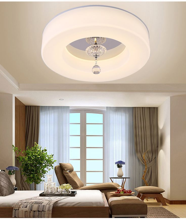 Simple Round LED Dimming Ceiling Lights Living Room Dining Room Dining Room  Balcony Corridor Remote Control