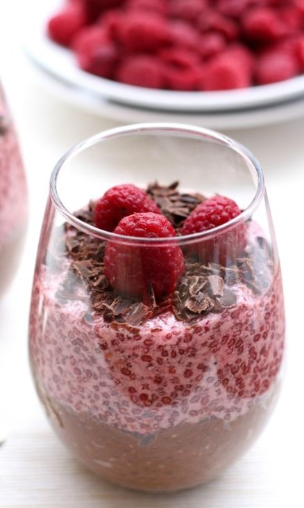 Raspberry and Chocolate Chia Pudding