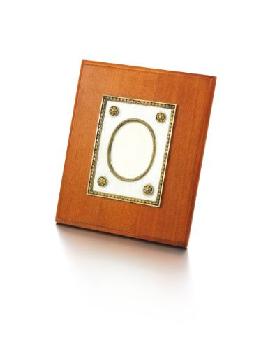 faberg silver gilt enamel and wood frame circa 1900 - Enamel Picture Frames