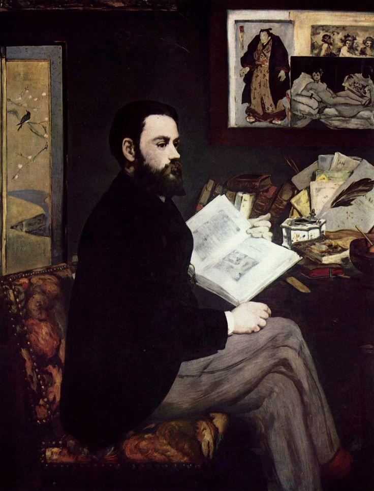 """Ritratto Émile Zola"" 1868   Dimension: 146 x 114 cm  Musée d'Orsay, Parigi"