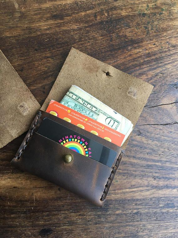 Metro card wallet Leather bus pass holder Leather credit