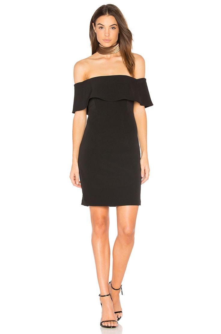 Bardot Off Shoulder Dress in Black