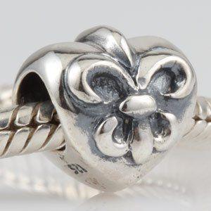 Fleur De Lis mon couer plata 925 Pandora Biagi Troll encantos del estilo europeo pulseras(China (Mainland))