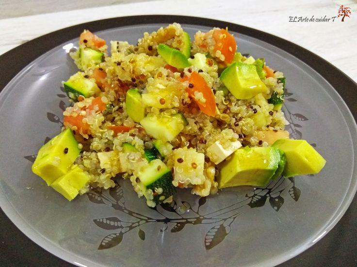 Ensalada de quinoa con aderezo de canela El Arte de cuidar T