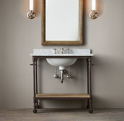 vanities amp sinks restoration hardware industrial 13224