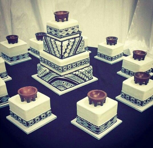 Samoan tribal design wedding cake - polynesian