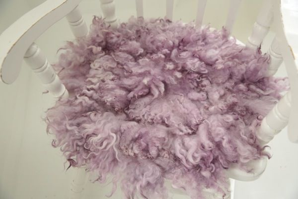 Image of MADE TO ORDER - PINK LAVENDER - PREMIUM curly wool felted layer - newborn photo PROP - FLOVELIES