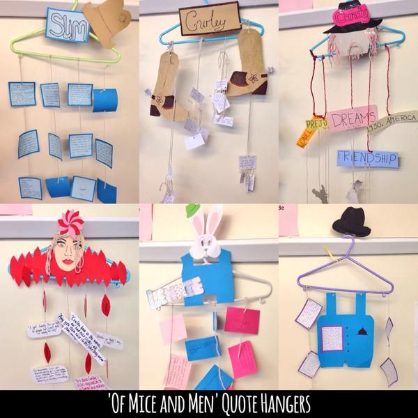 """Of Mice and Men"" quote hangers via @JamieClark85"