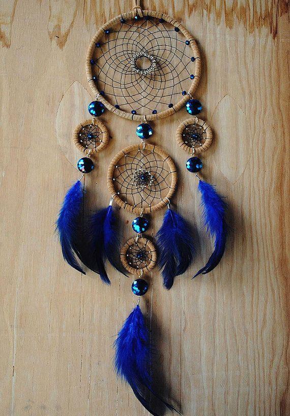 Gypsy Blue Dreamcatcher by VillageDreams on Etsy