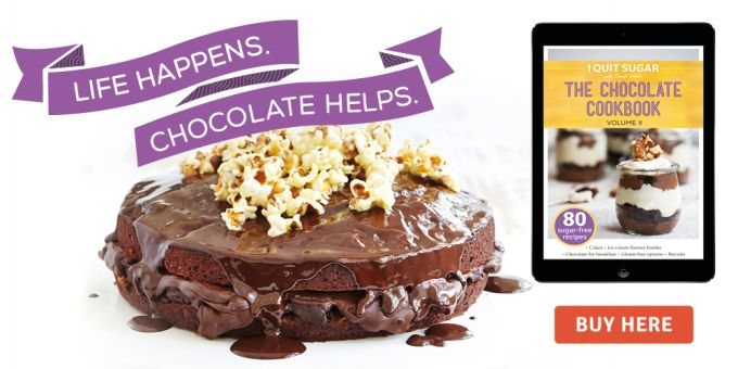 We are proud sponsors of the I Quit Sugar Chocolate eBook volume II - buy it now :)