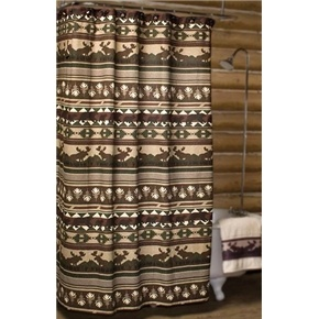 big woods shower curtain moose and bear shower curtain lodge decor