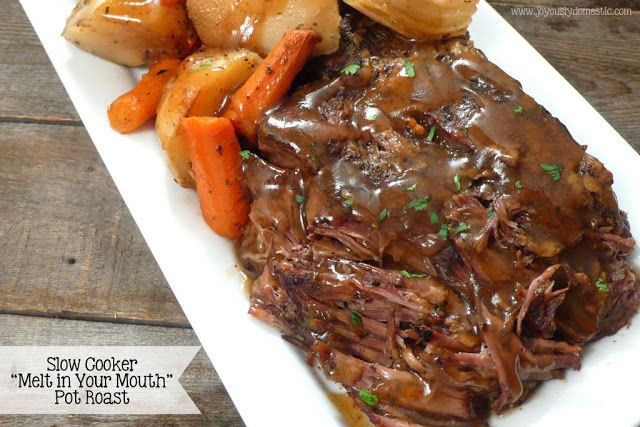 Slow Cooker Pot Roast and Potatoes 7 Smartpoints | Weight Watchers Recipes
