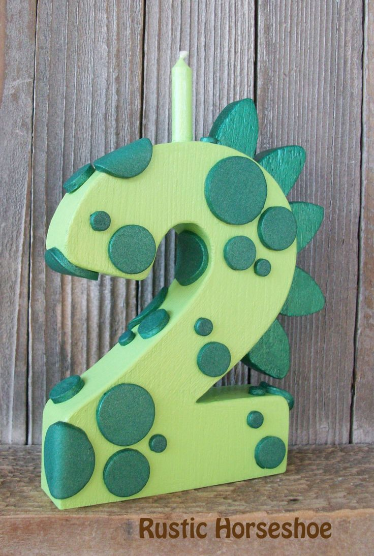 MADE to ORDER Green Dragon or Dinosaur Wooden Number Candle CHOOSE Number by RusticHorseShoe on Etsy https://www.etsy.com/listing/128422860/made-to-order-green-dragon-or-dinosaur