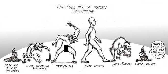 poop - evolution of man