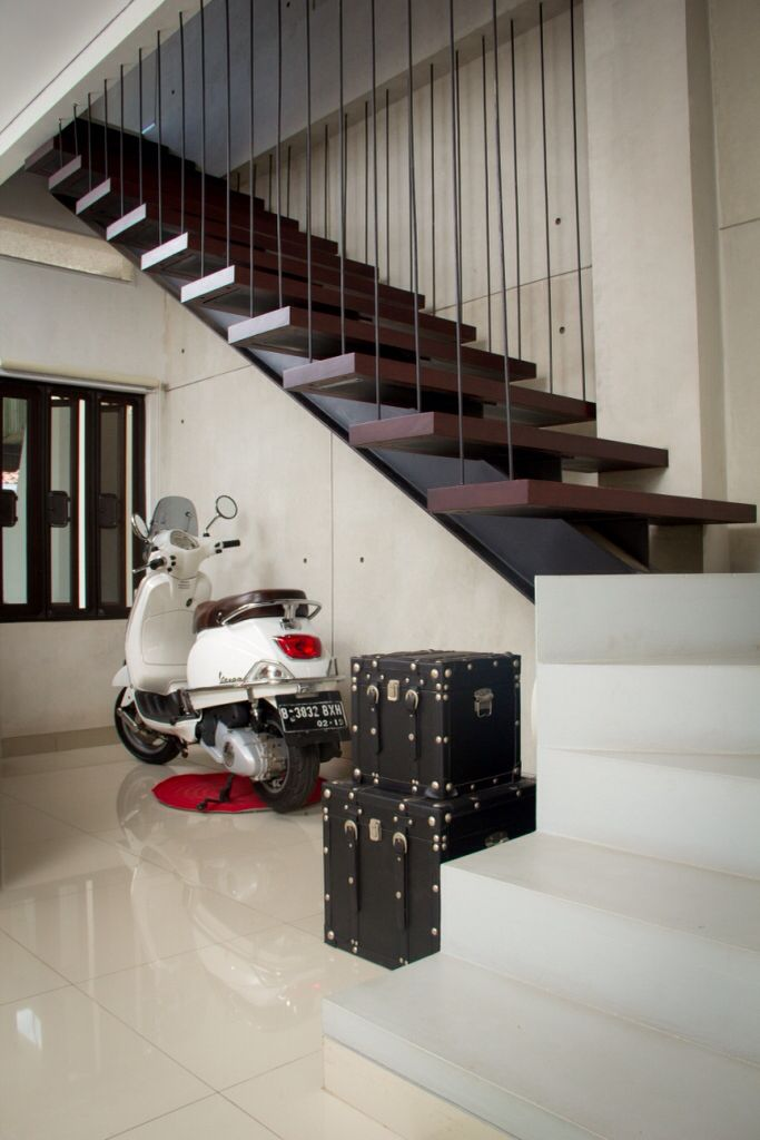 #Vespa under the main #stairs