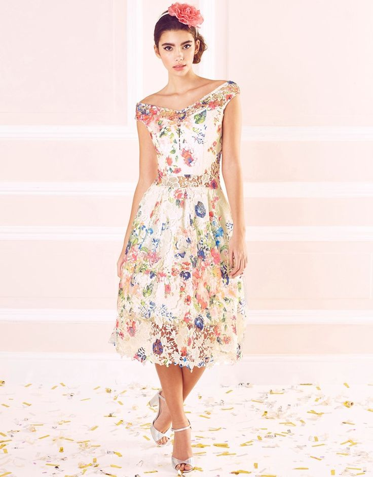 Buy Sistaglam Printed Lace Bardot Dress from the Next UK online shop