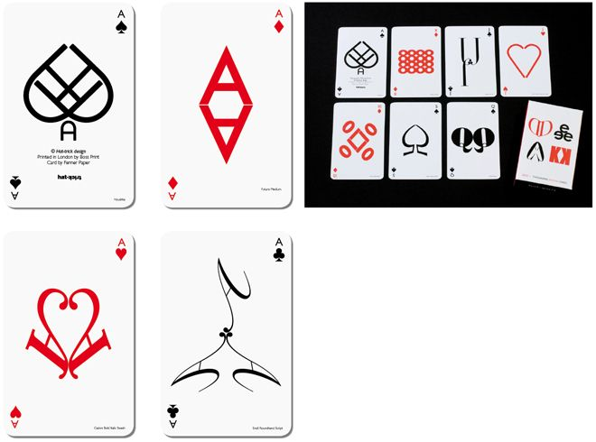 I want one of these very cool decks of playing cards designed by Hat-Trick Design £12.50